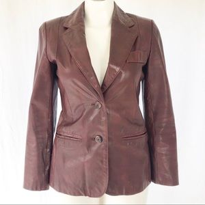 Wilson's Leather VINTAGE Red SM Fitted Blazer